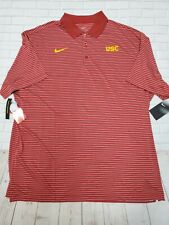 USC TROJANS Dri-Fit NIKE Striped Golf Coaching XXL Polo Shirt