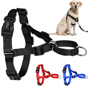 Front Leading Nylon Dog Harness No Pull Pet Walking Vest for Medium Large Dogs