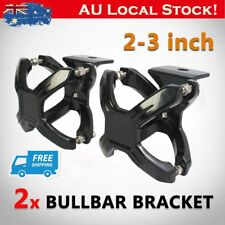 "Pair X-Clamp Bullbar Mounting Bracket 2-3"" LED Driving Work Light Bar Tube Mount"