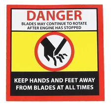 Warning Label Fits Lawnmower Ride On Cutter Deck – Rotary Blade Warning