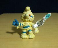 Smurfs 20544 Halloween Mummy Smurf Vintage Schleich Rare Toy Figure PVC Figurine