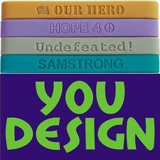 900 BANDS MADE & SHIPPED FAST   NO Setup or Mold Fees   Front and Back Text Pics