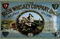 Irish Whisky Empresa Belfast Letrero de Metal 3D Relieve Cartel Lata 20 X 30CM