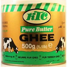 2 x Premium Quality KTC Pure Butter Ghee 500g (1.1 lb) No additives Cooking Aids