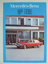 Prospekt Mercedes W 123 7-8 Sitze -240 D, 300 D,  250, 1.1979, 4 Seiten