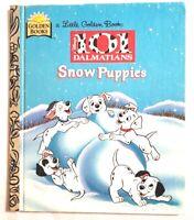 Little Golden Book Disney's 101 DALMATIANS Snow Puppies (1996, Hardcover) 1st Ed
