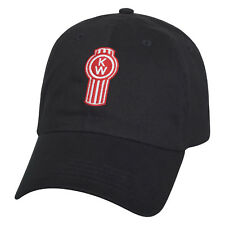 NEW Kenworth Motors Trucks Basic Black Unstructured Twill Logo Baseball Cap Hat
