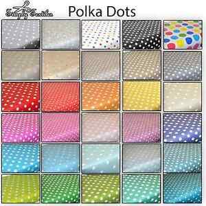 Polka Dots Spots - Wipe Clean PVC Tablecloth Oilcloth Vinyl Multiple Sizes
