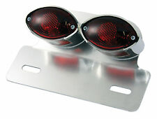 Motorcycle Rear Light - Twin Cateye with Stop/Tail - universal