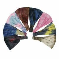 Women Yoga Sports Wide Headband Stretch Boho Hair Band Turban Headwrap Headwear