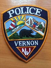 PATCH POLICE VERNON NEW JERSEY NJ STATE