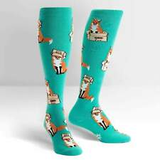 Foxes in Boxes Sock It To Me Women Knee High Socks New Novelty Forest Fashion