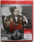 Disney Cruella (Blu-ray + DVD + Digital, Brand New & Sealed)