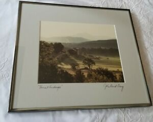 NICE ORIGINAL SIGNED & FRAMED PHOTOGRAPH BY JOHN DAVID GEERY, Vermont Landscape