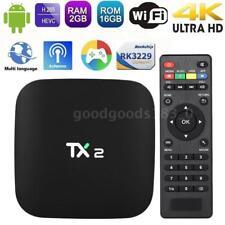 TX2 Android 6.0 Smart TV BOX RK3229 Quad Core UHD 4K WiFi HD Media 2Go+16Go E3A5