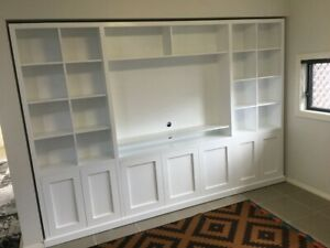 """Kellyville-2.0"" Classic Integrated Wall Unit Bookshelf TV Unit"