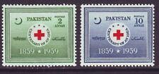 Pakistan 1959 SC 104-105 MH Set Red Cross Centenary