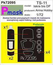 PZL TS-11 ISKRA CANOPY & WHEELS PAINTING MASK TO ARMA HOBBY KIT#72095 1/72 PMASK