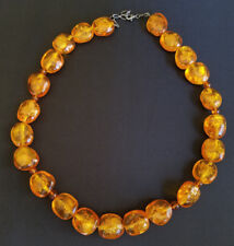 Fossilized Amber Sterling Silver Necklace Trapped Ants Insects