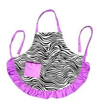 Zebra Apron Purple Adult Smock Ladies Women