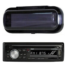 New Black PLCDBT95 InDash Marine Boat Stereo CD MP3 WMA Player Radio W/Cover Pkg