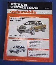 Revue technique  RTA 489 Audi 80 et 90 1.8s 1.8e 2.0e 2.2e