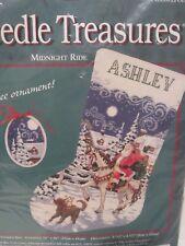 Needle Treasures Christmas Needlepoint Stocking Kit MIDNIGHT RIDE #6894 Sealed