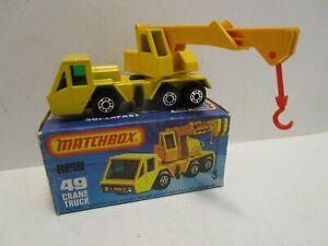 1976 MATCHBOX SUPERFAST NO.49 CRANE TRUCK  ***MINT IN BOX***