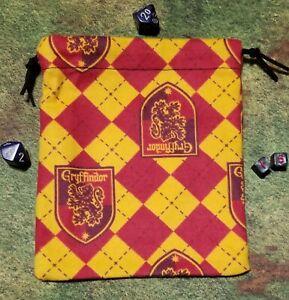 Harry Potter Gryffindor Flannel Dice Bag, Card Bag, Makeup Bag, Small Gift Bag