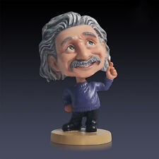 "6"" Scientist Albert Einstein Bobble Head Cartoon Doll Action Figure Statue"