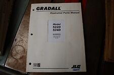 Jlg 522d 524d Telescopic Forklift Parts Manual Book Catalog List 2004 Shop