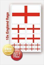15x England English St. George Flag decals Car Van Bike Waterproof Stickers