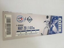R. A. Dickey Win Escobar HR May 20 2013 5/20/13 Blue Jays Tampa Rays Full Ticket
