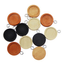 24PCS Mixed 12mm Round Blank Bezel Tray Base Pendant Charm for Bracelet Necklace