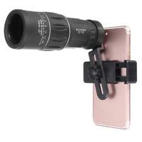 16x52 Zoom Hiking Monocular Telescope Lens Camera HD Scope Hunting+Phone Holder