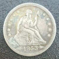 USA. Engraved Silver Love Token. Liberty Seated. 1853.
