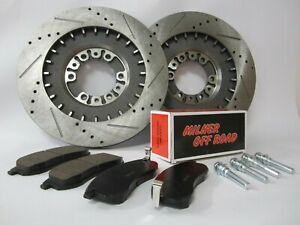 Front Milner Performance Brake Disc & Pads Kit for Mitsubishi L200 4x4 K74