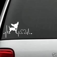 K1002 Chihuahua Heartbeat© Dog Decal Sticker Car Truck SUV Van Laptop Mac Art