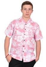 Para Hombre True Face Hawaiian Playa Flamingo montañas Primavera camisas de  manga corta 430e346069d73