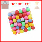TADICK Assorted Color 50 Pack Beer Ping Pong Balls Washable Plastic Table Te …