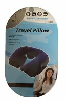 Blue Cute Inflatable Travel Pillow Neck U Rest Compact Plane