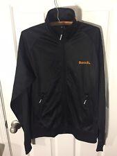 Bench Urbanwear Large Black Orange Logo Full Zip Pockets
