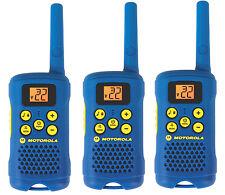 3 Motorola Talkabout MG160 AAA FRS GMRS Blue Alkaline 2-Way Radio Walkie Talkie