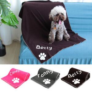 Absorbent Dog Drying Towel Microfiber Pet Bath Towel & Personalised Pet Name