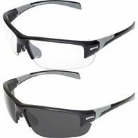 Bulldog Multi Sports Shooting Cycling Wrap Around Sunglasses Black Square UV400