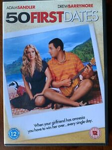 50 First Dates DVD 2004 Rom Com Movie w/ Adam Sandler and Drew Barrymore