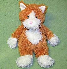 "Animal Adventure Ginger Cat Stuffed Animal Shaggy Orange White 16"" Floppy 2005"