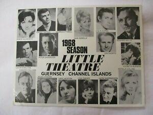 LITTLE THEATRE GUERNSEY CHANNEL ISLANDS 1968 SEASON ACTORS