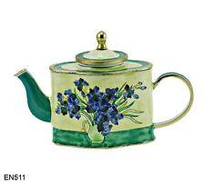 KELVIN CHEN Enamel Mini Copper  Handpaint Teapot -  Iris by Van Gogh