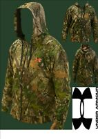 Under Armour Mens HTC GREEN Lightweight Camo Zip Hoodie (DX-17)